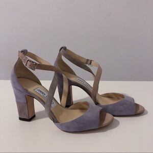 Authentic Jimmy Choo Suede Heeled Sandals